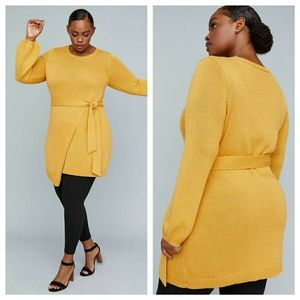 Girl With Curves X Lane Bryant Belted Wrap Sweater
